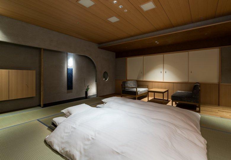 chambre zen simple et rangée