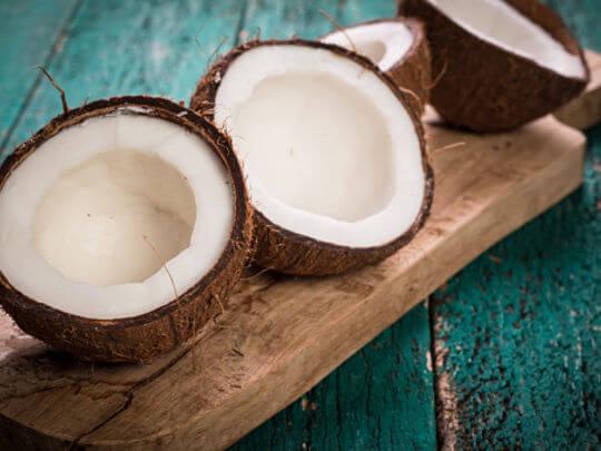 Lait de coco et yaourt